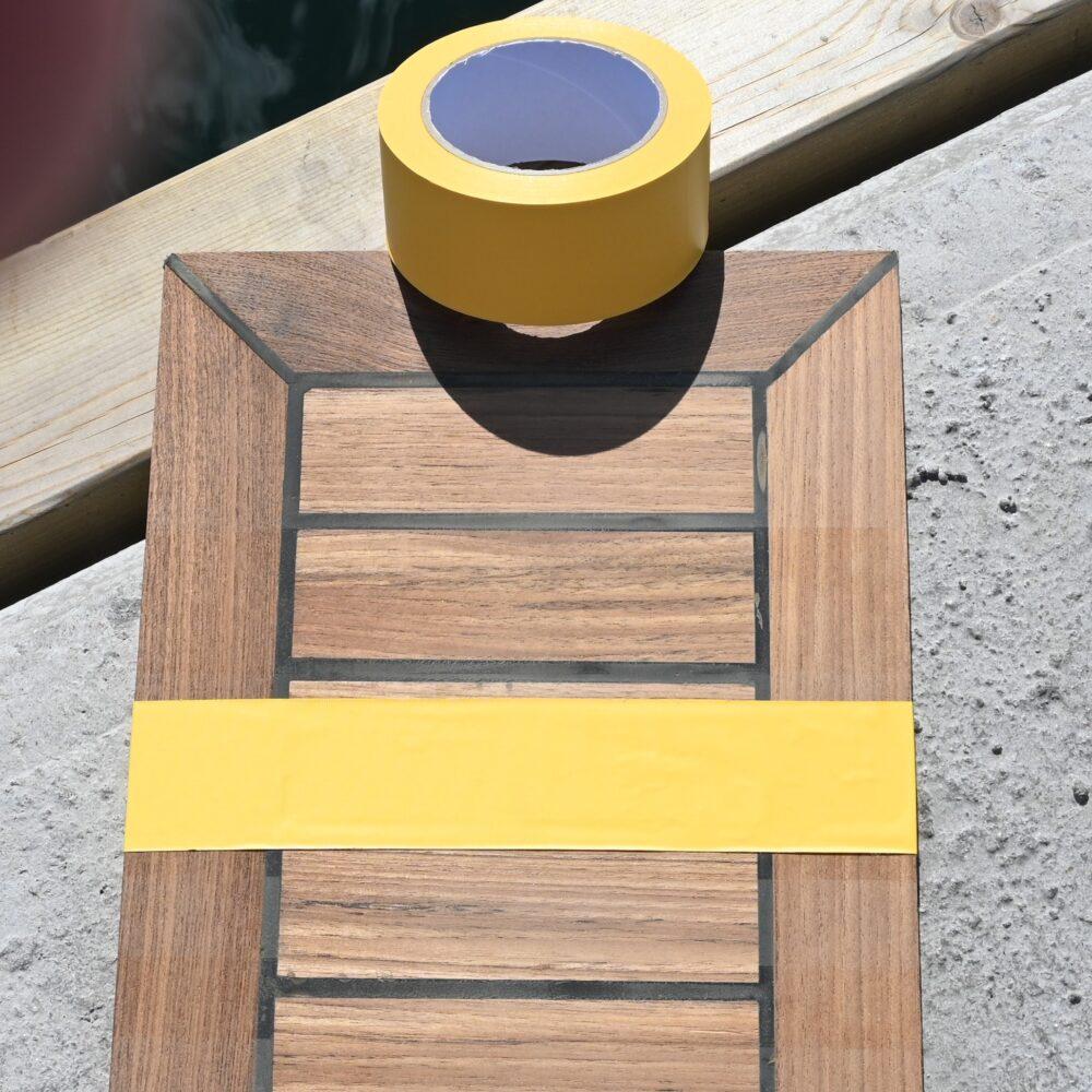 Tværrillet PVC tape